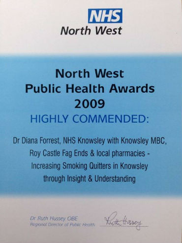 NW public Health awards 2009 certificate 1